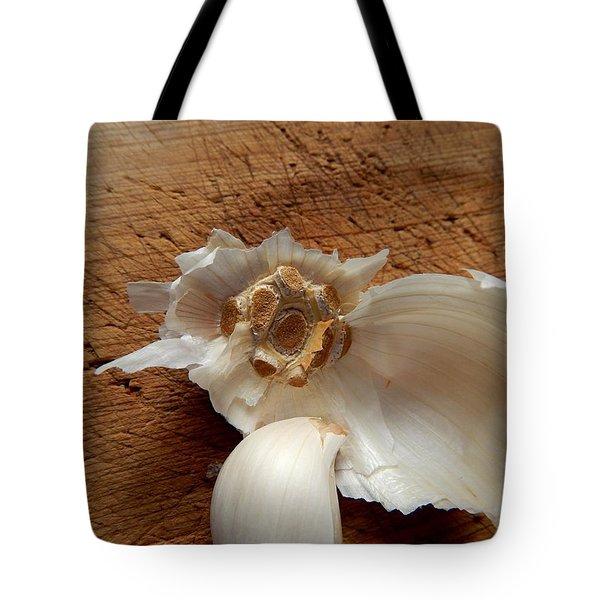 Tote Bag featuring the digital art Garlic Is Life by Aliceann Carlton