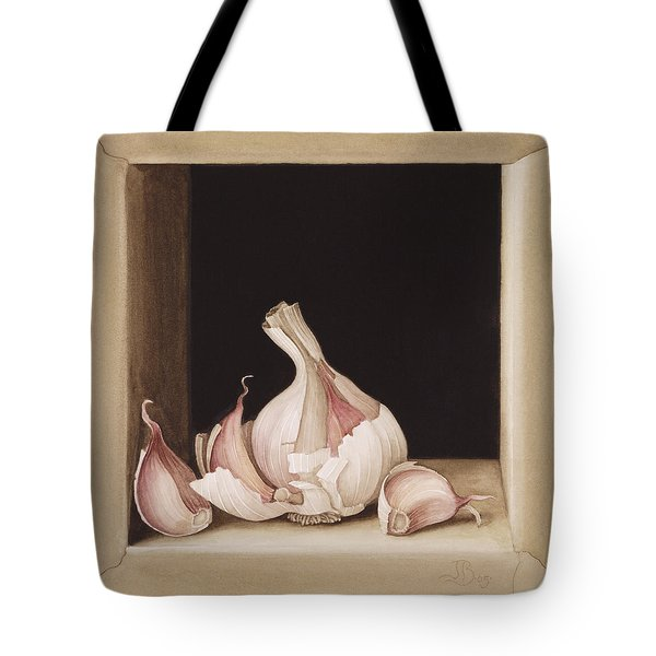 Garlic Tote Bag by Jenny Barron