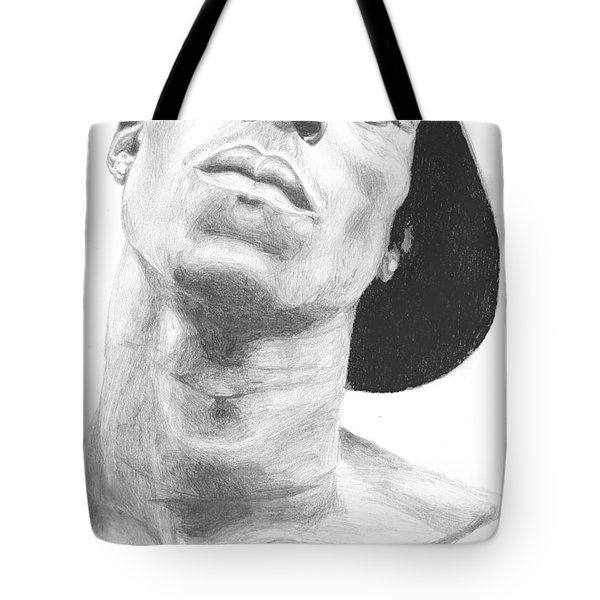Tote Bag featuring the drawing Garnett 3 by Tamir Barkan