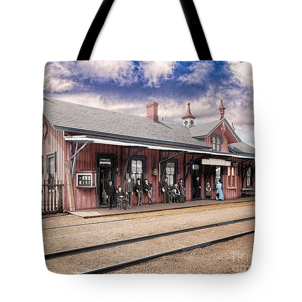 Garrison Train Station Colorized Tote Bag