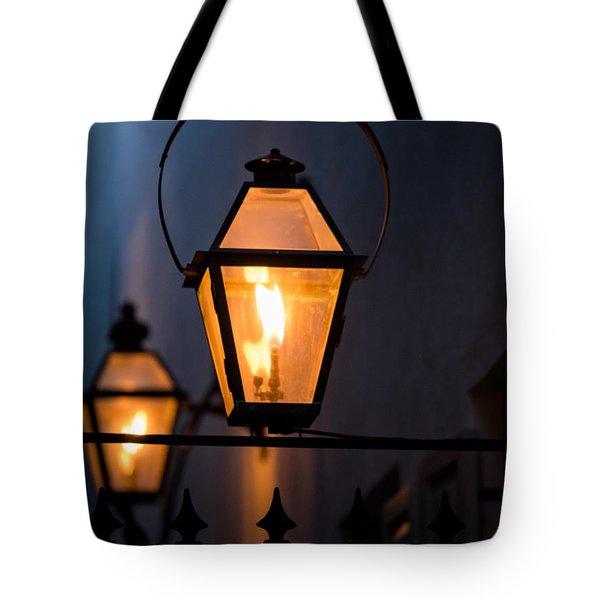 Gas Lights Tote Bag