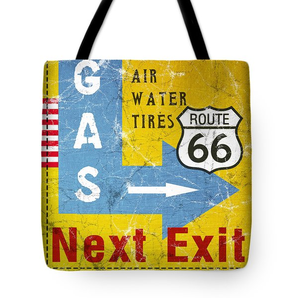 Gas Next Exit- Route 66 Tote Bag