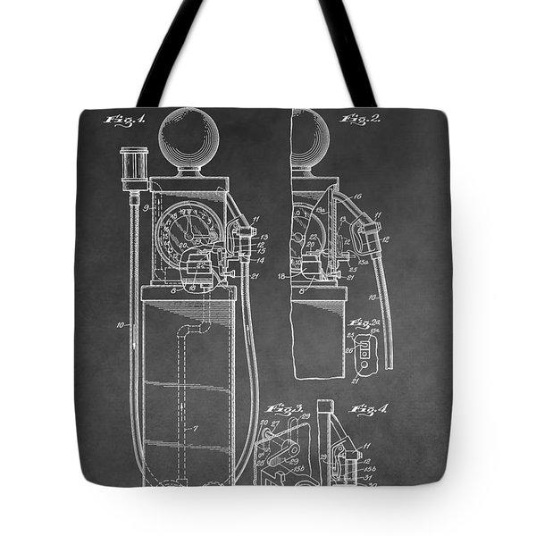 Gas Pump Patent Tote Bag