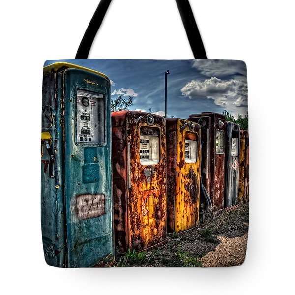 Tote Bag featuring the photograph Gasoline Alley by Ken Smith