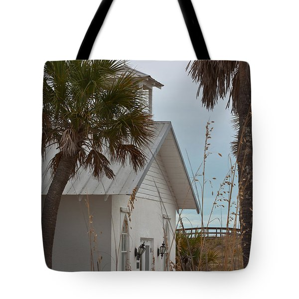 Tote Bag featuring the photograph Gasparilla Island State Park Chapel by Ed Gleichman