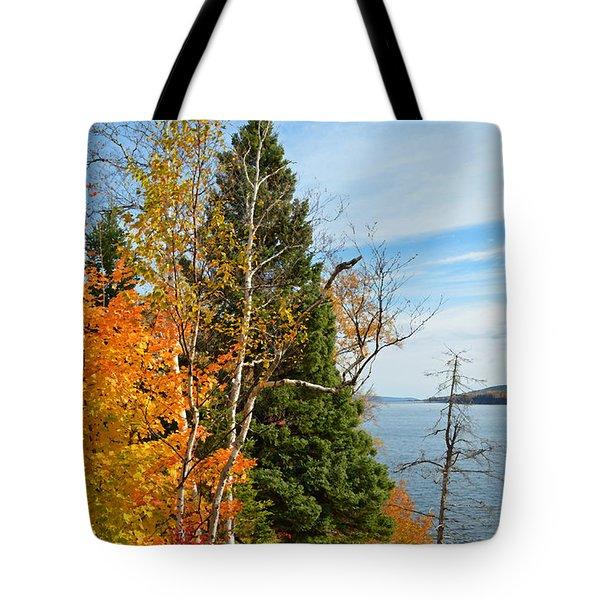 Gaspe Canada Autumn Colors Tote Bag