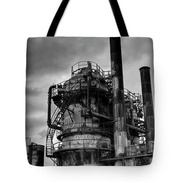 Gasworks Park Tote Bag by David Patterson