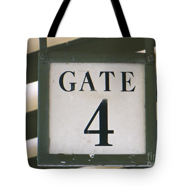 Gate #4 Tote Bag