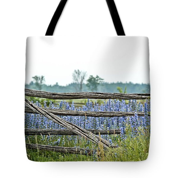 Gate To Blue Tote Bag by Cheryl Baxter