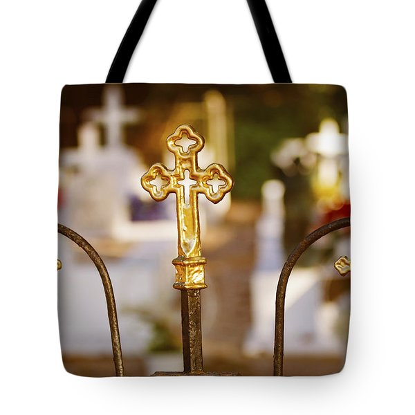 Tote Bag featuring the photograph Louisiana Cemetery by Luana K Perez