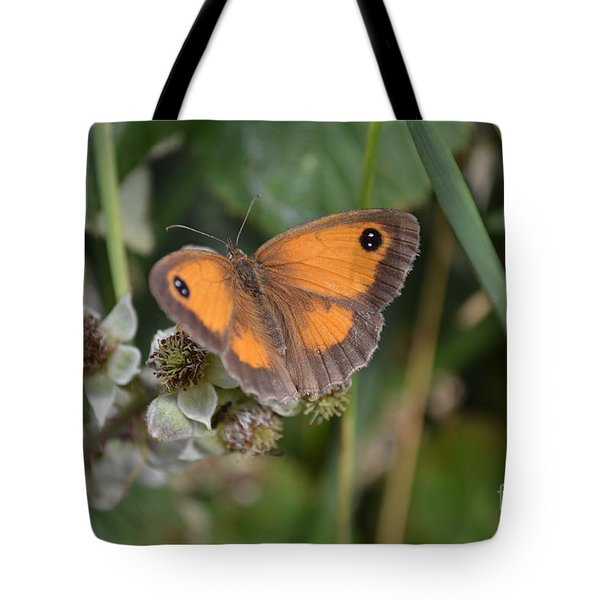 Tote Bag featuring the photograph Gatekeeper Butteryfly by Scott Lyons