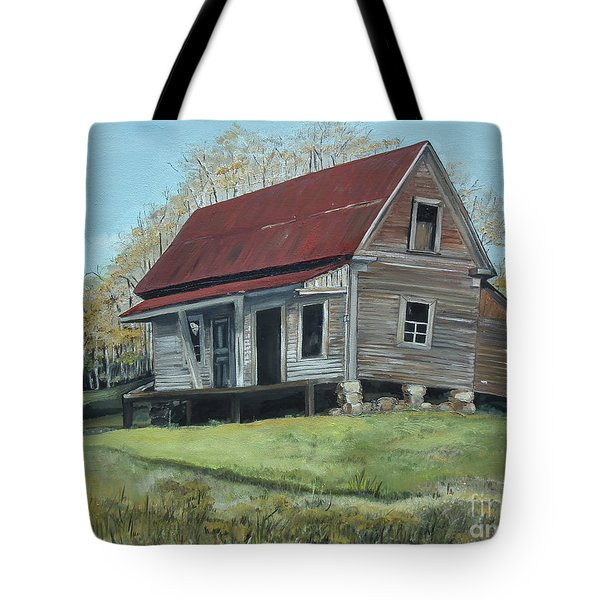 Gates Chapel - Ellijay Ga - Old Homestead Tote Bag by Jan Dappen