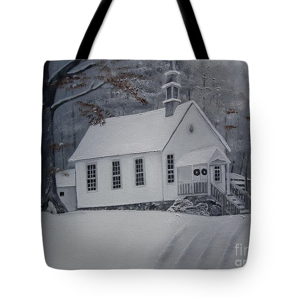 Gates Chapel - Ellijay - Signed By Artist Tote Bag by Jan Dappen