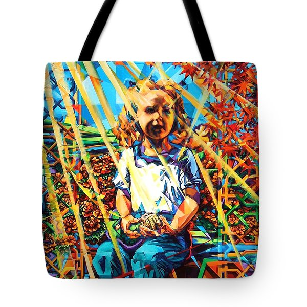 Tote Bag featuring the painting Gates To The Garden by Greg Skrtic