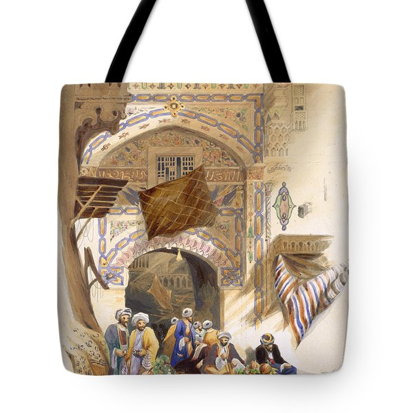 Gateway Of A Bazaar, Grand Cairo, Pub Tote Bag by A. Margaretta Burr
