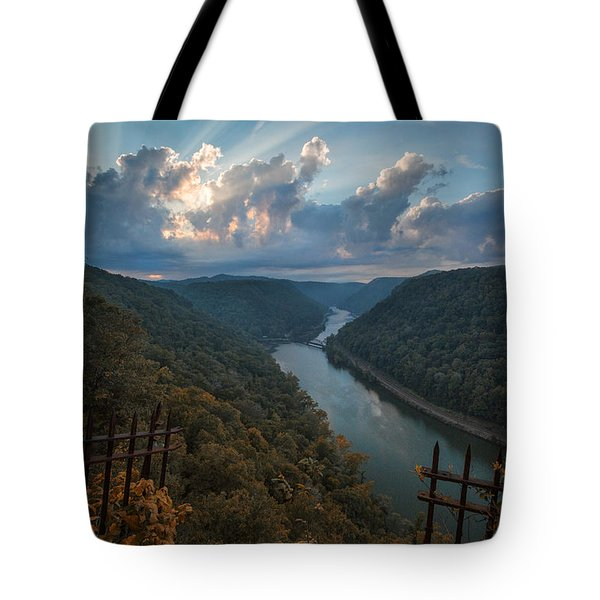 Tote Bag featuring the photograph Gateway To Autumn by Jaki Miller