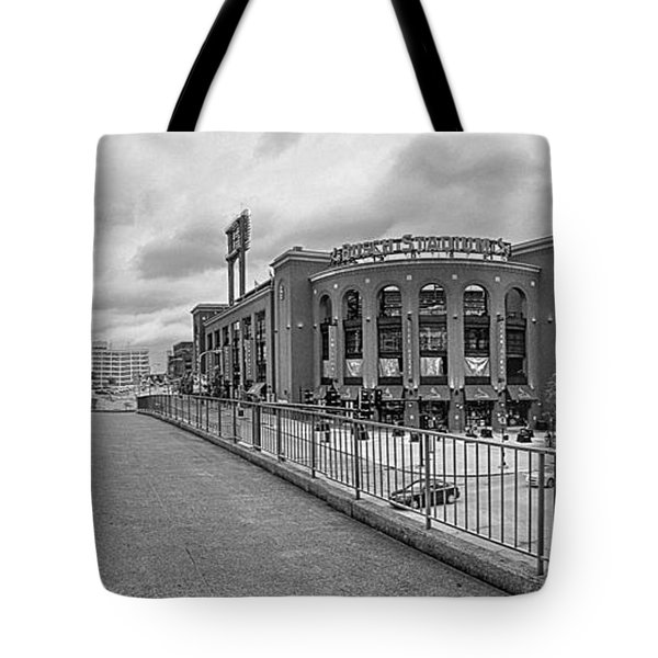 Gateway To Busch Black And White Tote Bag