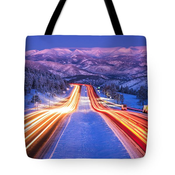 Gateway To The Rockies Tote Bag by Darren  White