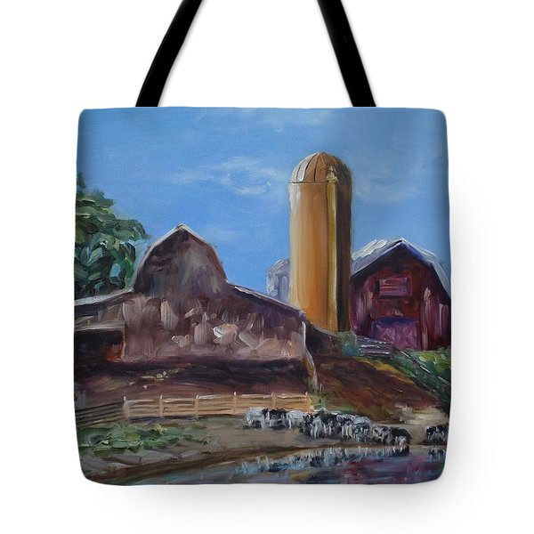 Gathered By The Pond Tote Bag by Donna Tuten