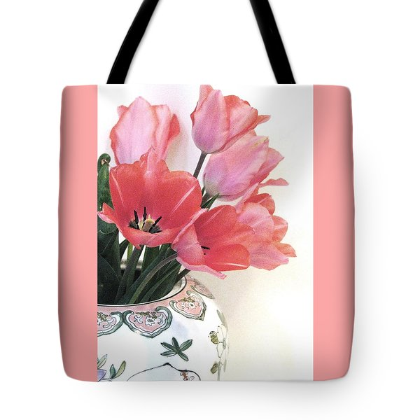 Gathered Tulips Tote Bag