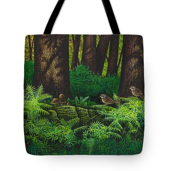 Gathering Among The Ferns Tote Bag