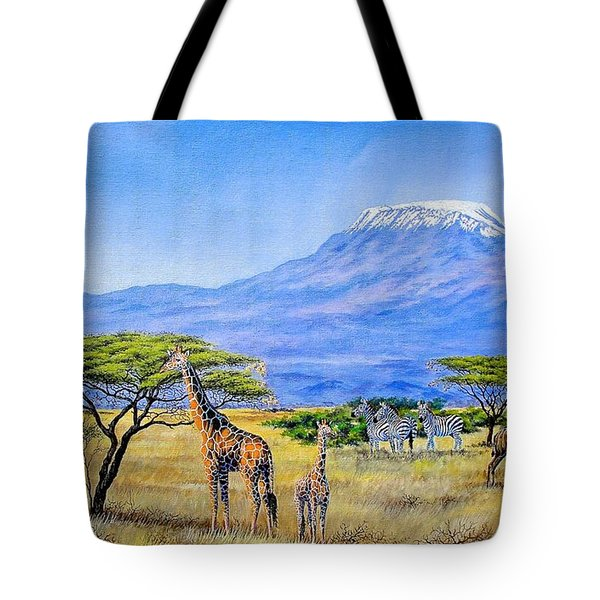 Gathering At Mount Kilimanjaro Tote Bag