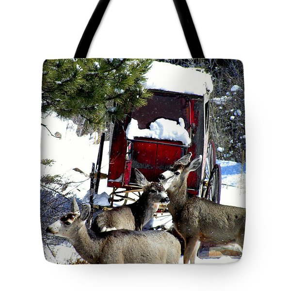 Gathering At The Old Stage Coach.. Tote Bag