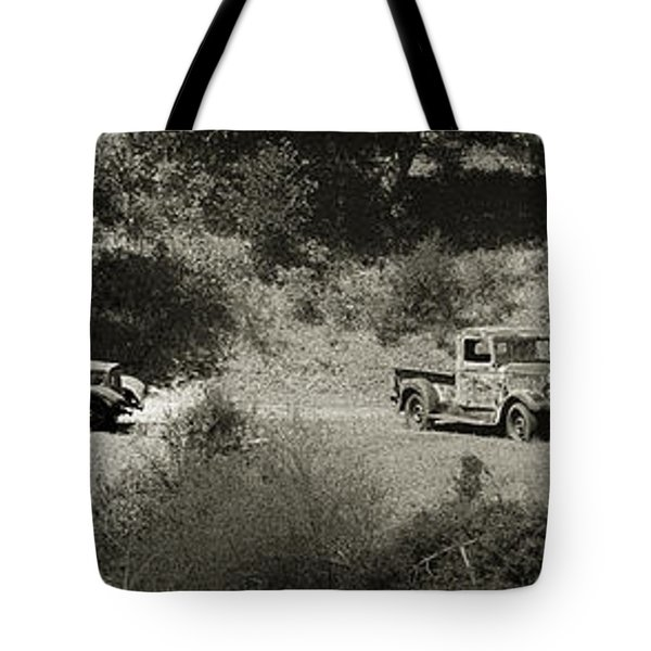 Gathering Black And White Tote Bag