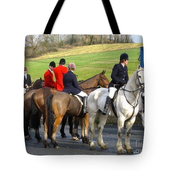 Gathering For The Hunt Tote Bag by Suzanne Oesterling