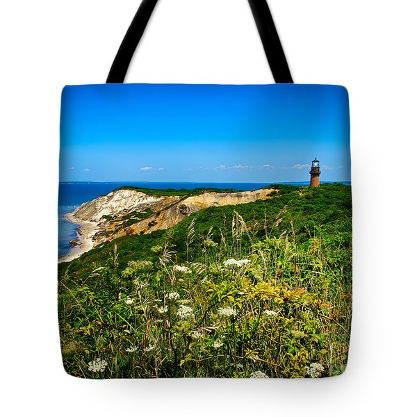 Gay Head Light And Cliffs Tote Bag