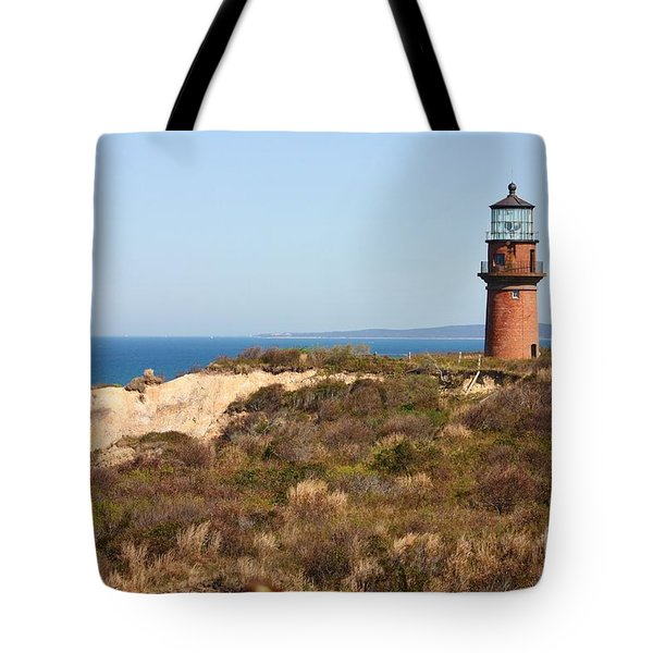 Gay Head Lighthouse Tote Bag by Carol Groenen