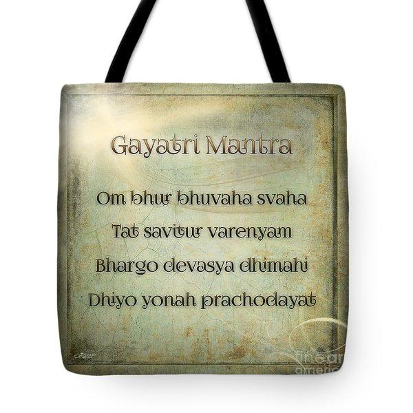 Gayatri Mantra Tote Bag