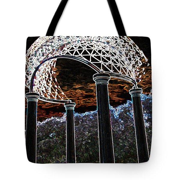 Tote Bag featuring the photograph Gazebo 1 by Minnie Lippiatt