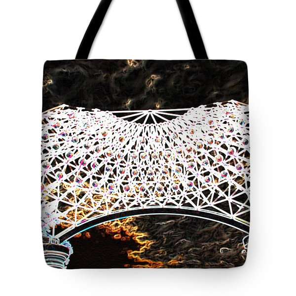 Tote Bag featuring the photograph Gazebo 4 by Minnie Lippiatt