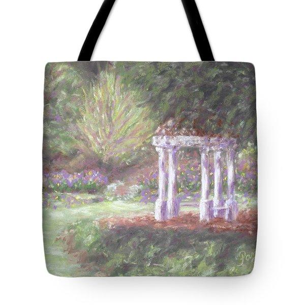 Gazebo At Hopelands In Spring Tote Bag