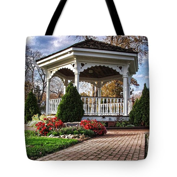 Gazebo At Olmsted Falls - 3 Tote Bag