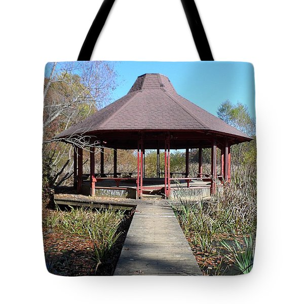 Tote Bag featuring the photograph Gazebo by Philomena Zito