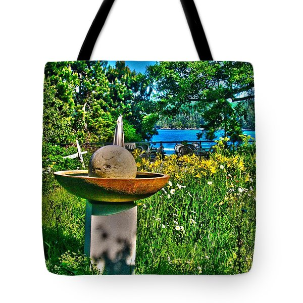 Gazing Ball Tote Bag