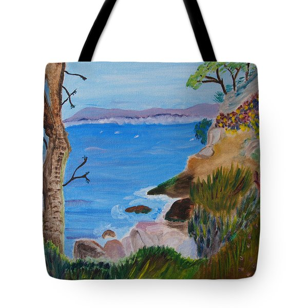 Gazing Out To Sea Tote Bag