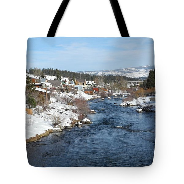Gazing Over The Truckee River Tote Bag