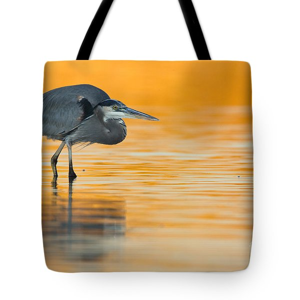 Tote Bag featuring the photograph Gbh In Orange Water by Bryan Keil