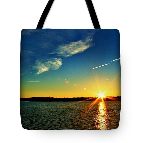 Gc Lake Sunrise Tote Bag