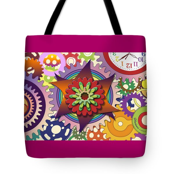 Gears Tote Bag by Gerry Robins