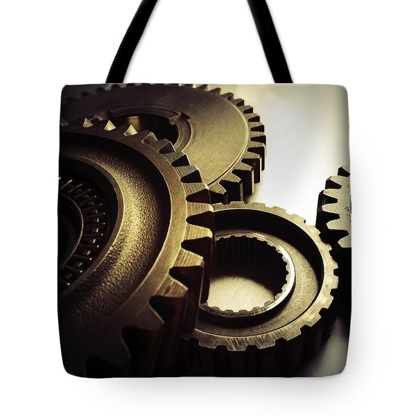 Gears Tote Bag by Les Cunliffe