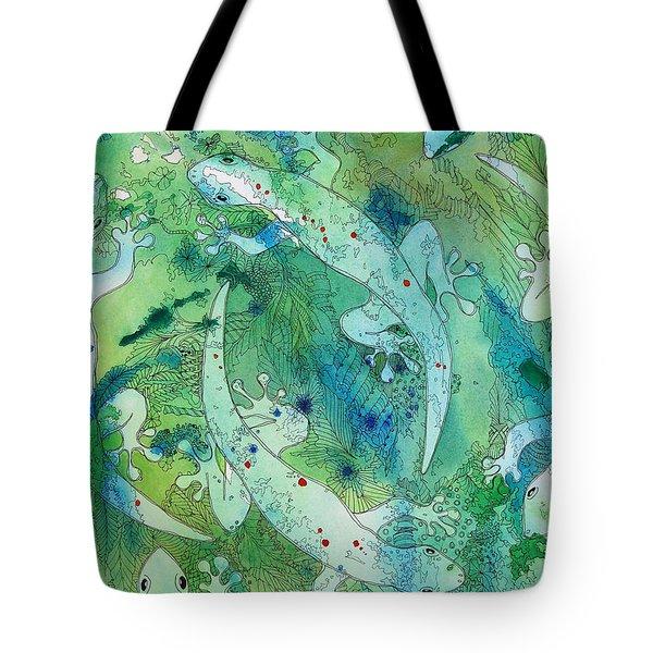 Geckos At Play Tote Bag