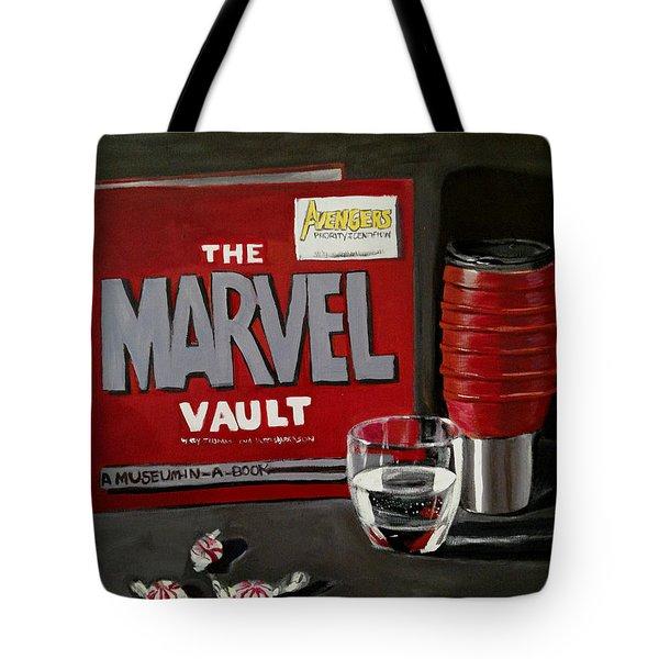 Marvel Comic's Still Life Acrylic Painting Art Tote Bag