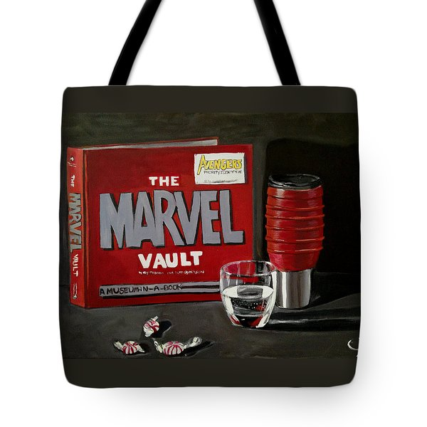 Marvel Comic's Still Life Acrylic Painting Art Tote Bag