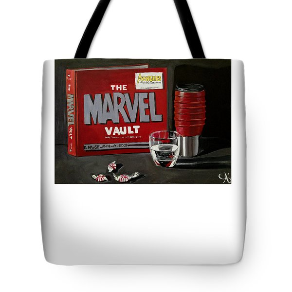 Geek Obsession - Still Life Acrylic Painting - Marvel Comics - Ai P. Nilson Tote Bag