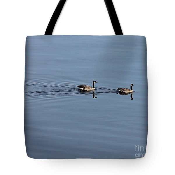 Geese Reflected Tote Bag