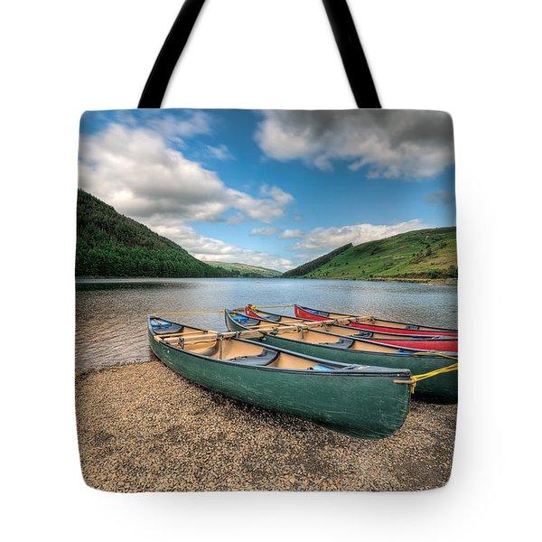 Geirionydd Lake Tote Bag by Adrian Evans